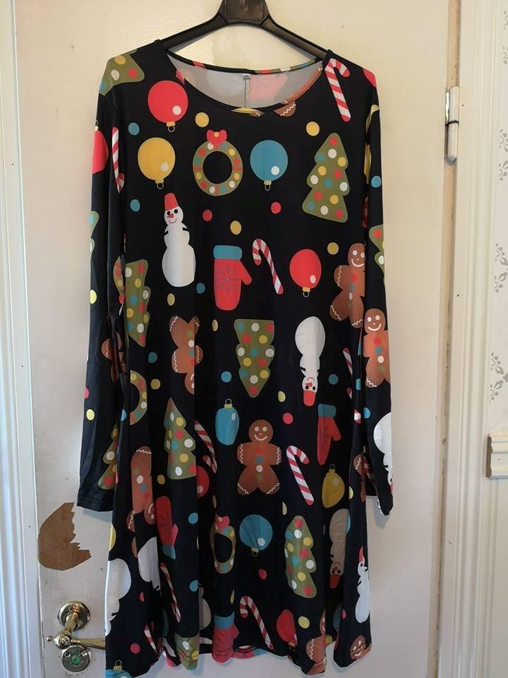 klänning med julmotiv