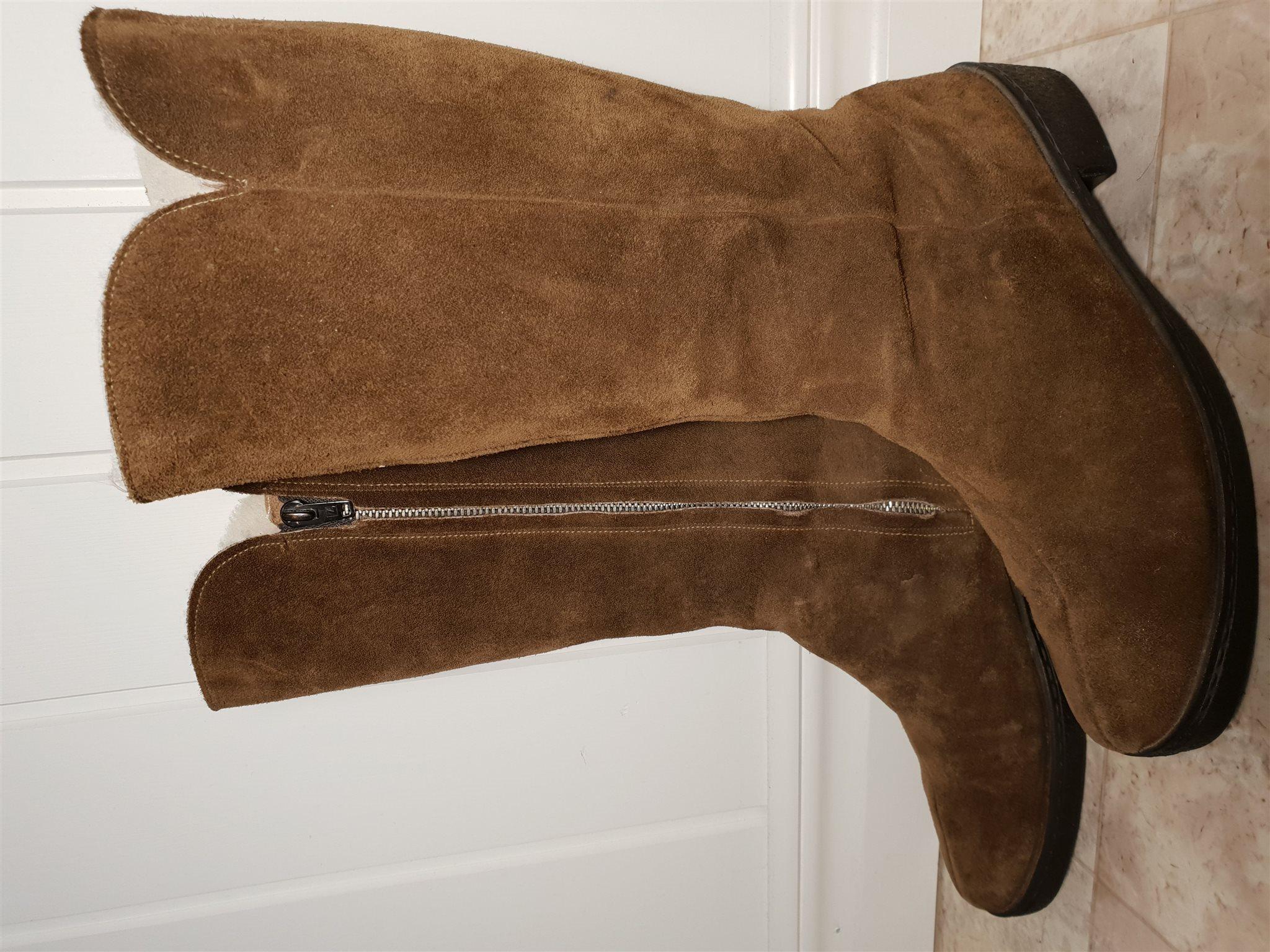 Clarks mocka boots stövel engelska vintage skinn ull foder vinter skor 5 59f579079f648