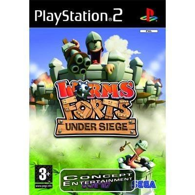 WORMS FORTS UNDER SIEGE (komplett) till Sony Playstation 2, PS2