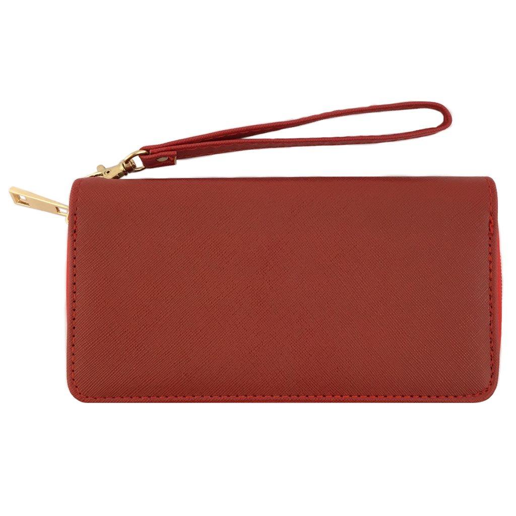 Plånbok i saffiano, RÖD