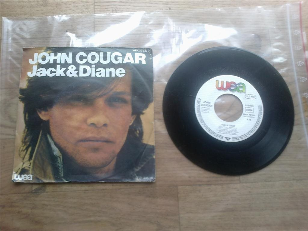 John Cougar   Jack & Diane, Can you take it.  Singel