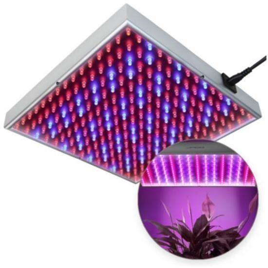 Växtlampa LED-Panel Grolampa Odlingslampa Röd Blå lampa 225 LED