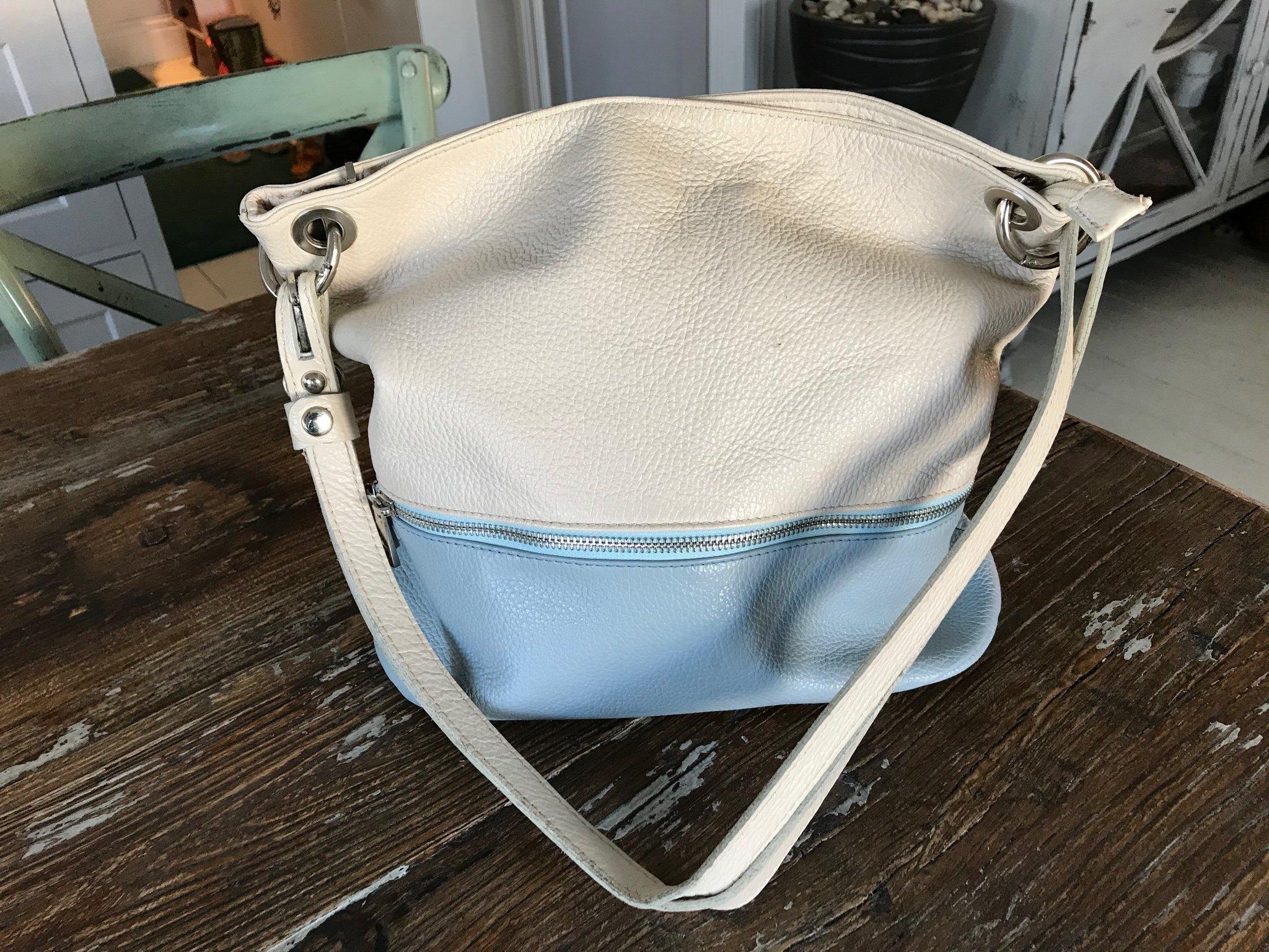 Snygg väska i äkta skinn