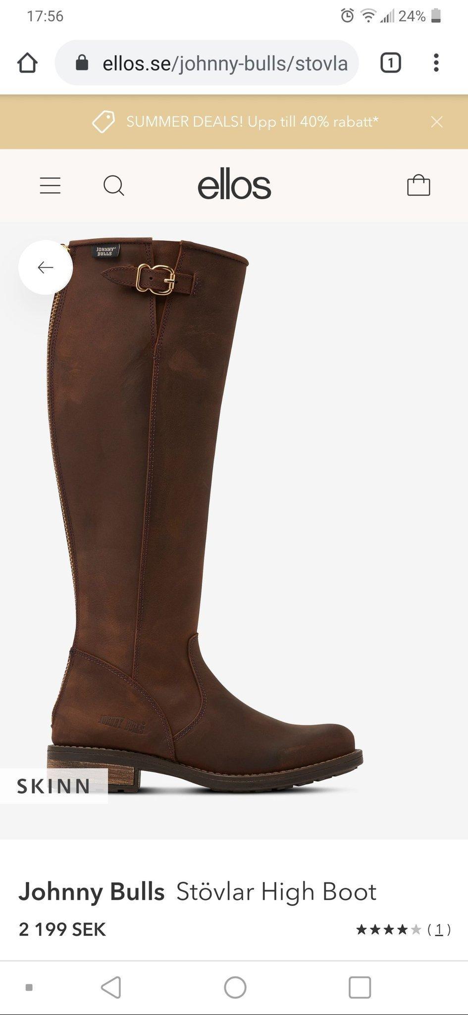 johnny bulls stövlar boots ellos skinn stl 36 .. (409770992