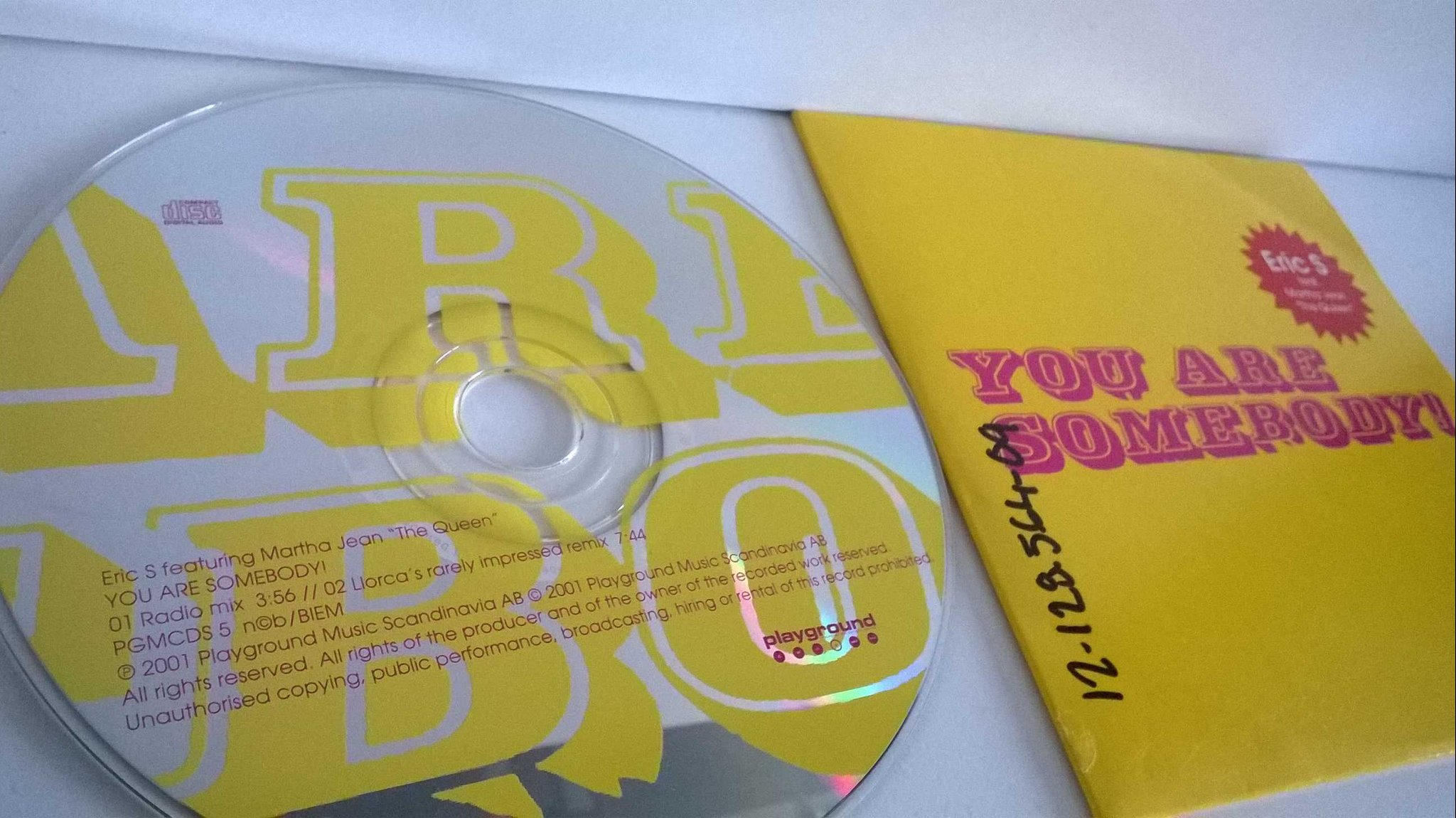 Eric S - You are somebody!, single CD