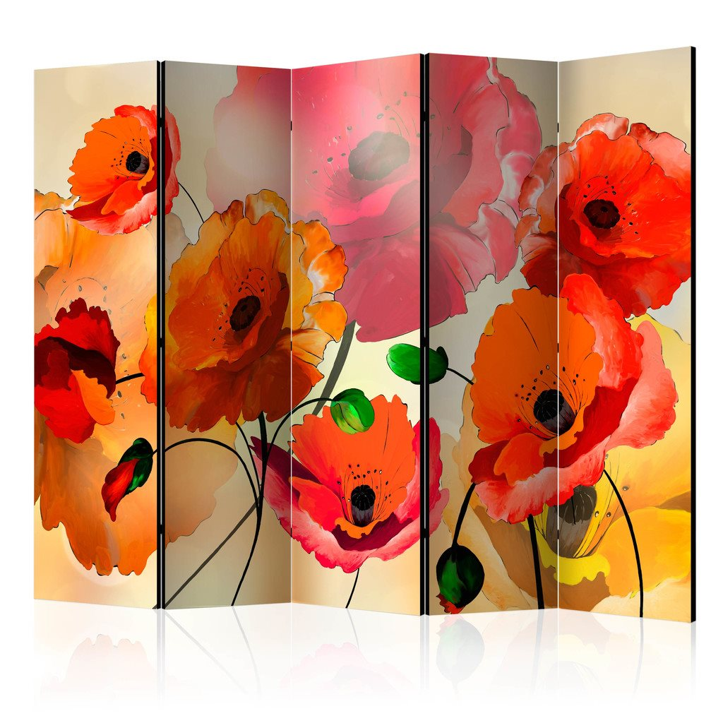 Rumsavdelare - Velvet Poppies II Room Dividers 225x172