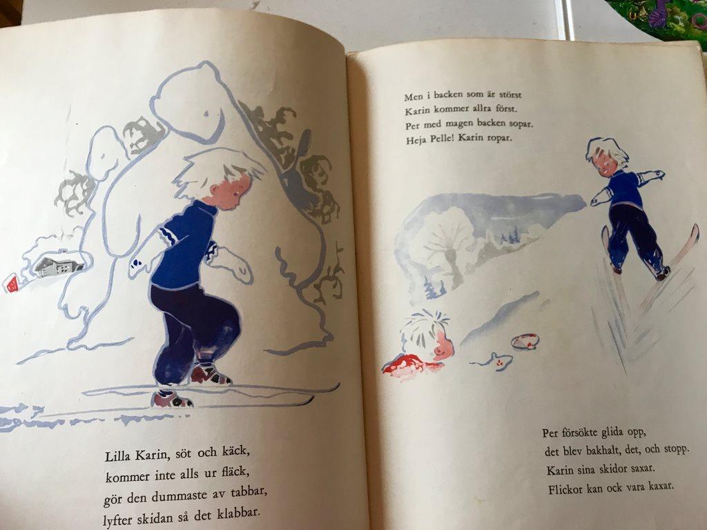 PÅ SKIDOR MED MED MED PER OCH KARIN Tomm Murstad 1946 0e45b6