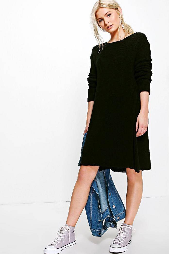 t shirt klänning svart