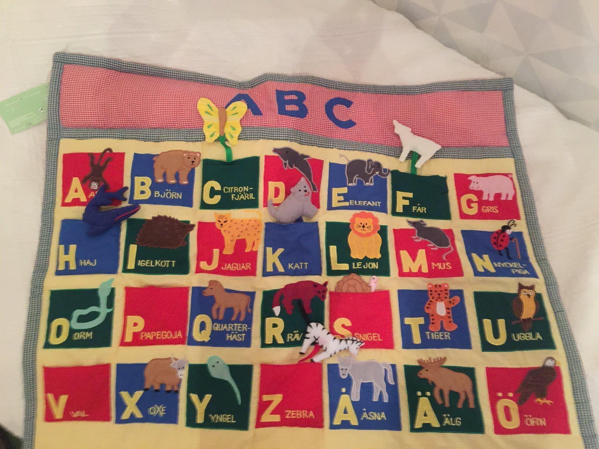Fin Oskar   Ellen mjuk bokstavs ABC djur tavla .. (335917975) ᐈ Köp ... 31407708872e5