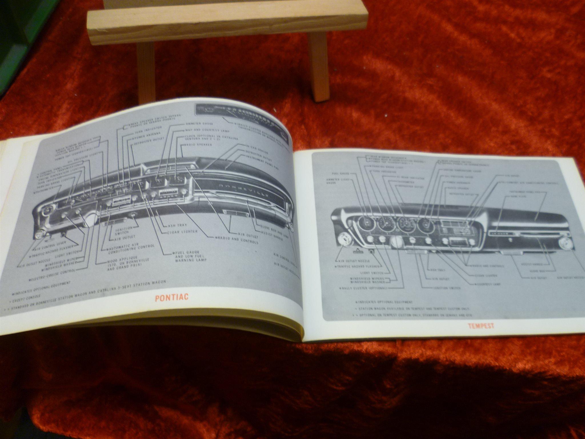 1966 1966 1966 PONTIAC , Instruktionsbok , ALL-SERIES , OBS!! ORIGINAL fe981e