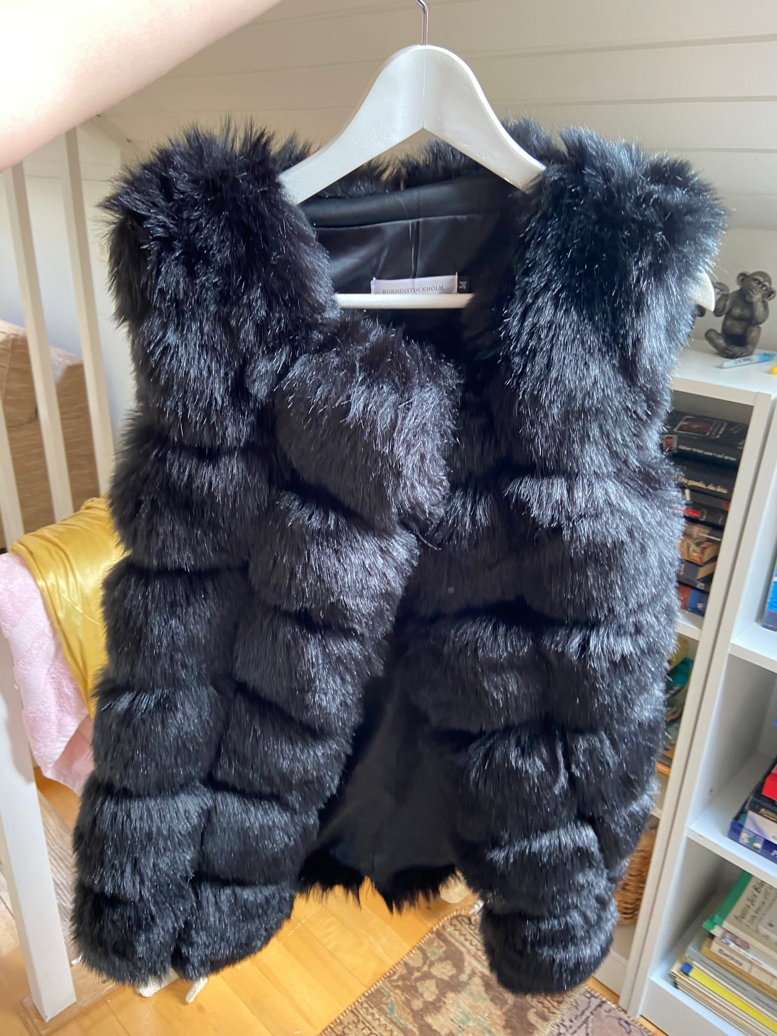 Fake fur väst