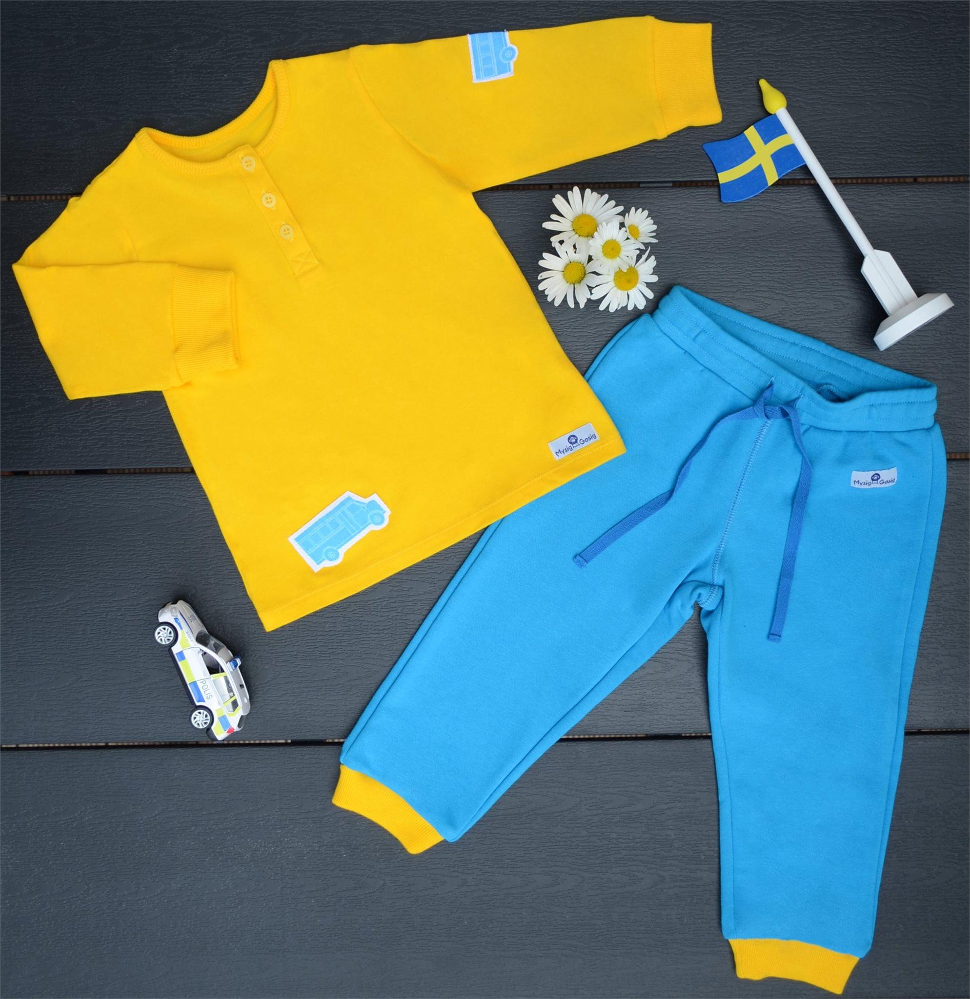 Barnkläder i Gul och Blå f080b6af2f454