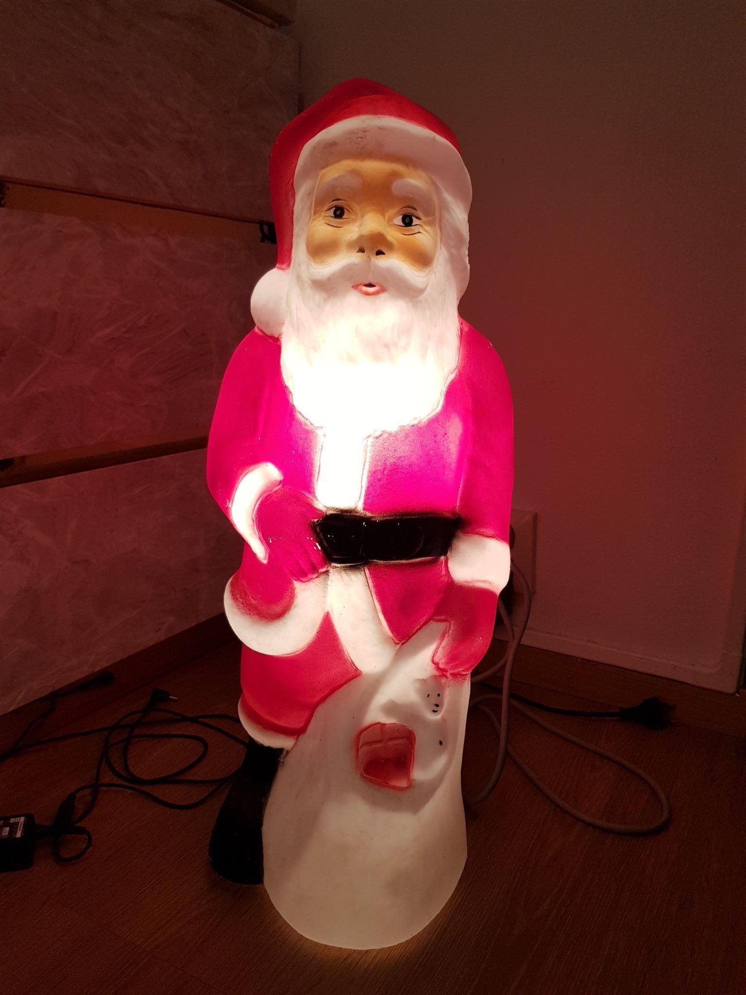 jultomte med belysning