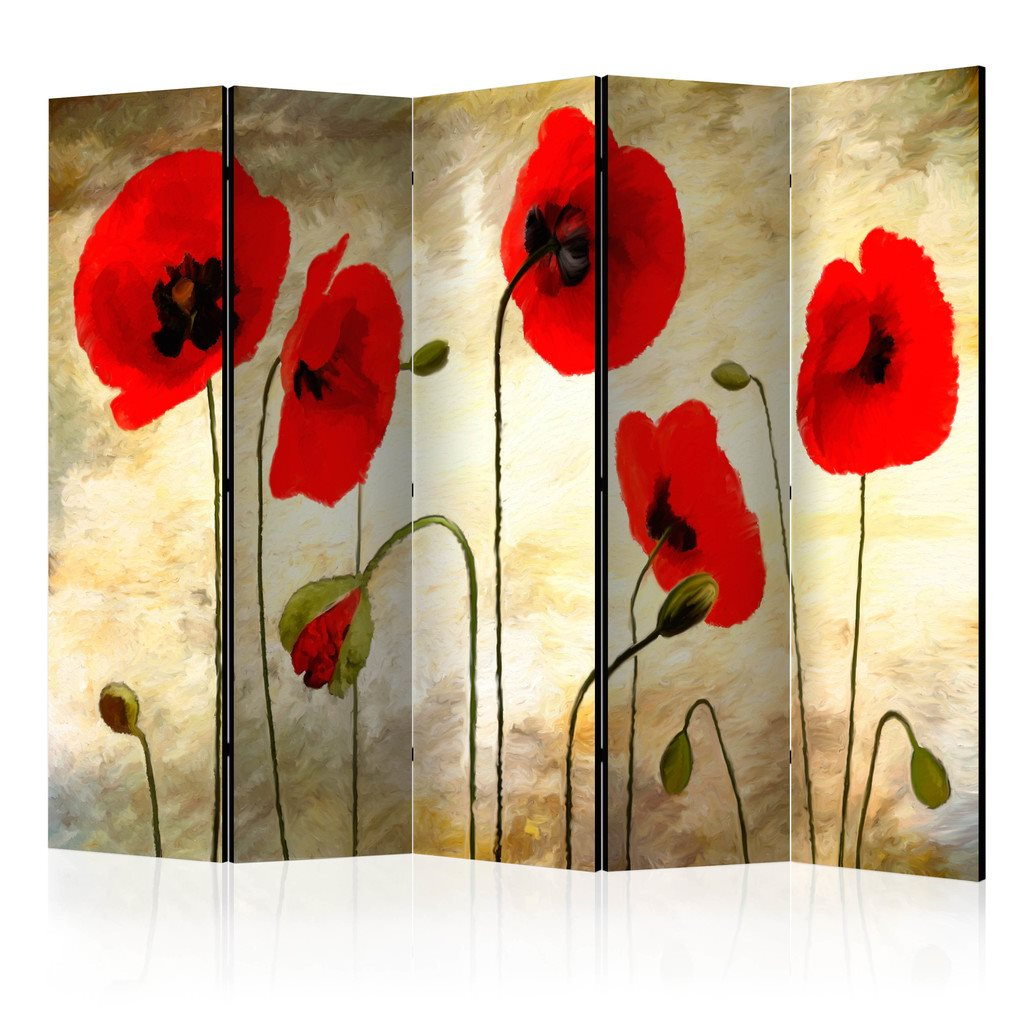 Rumsavdelare - Golden Field of Poppies II Room Dividers 225x