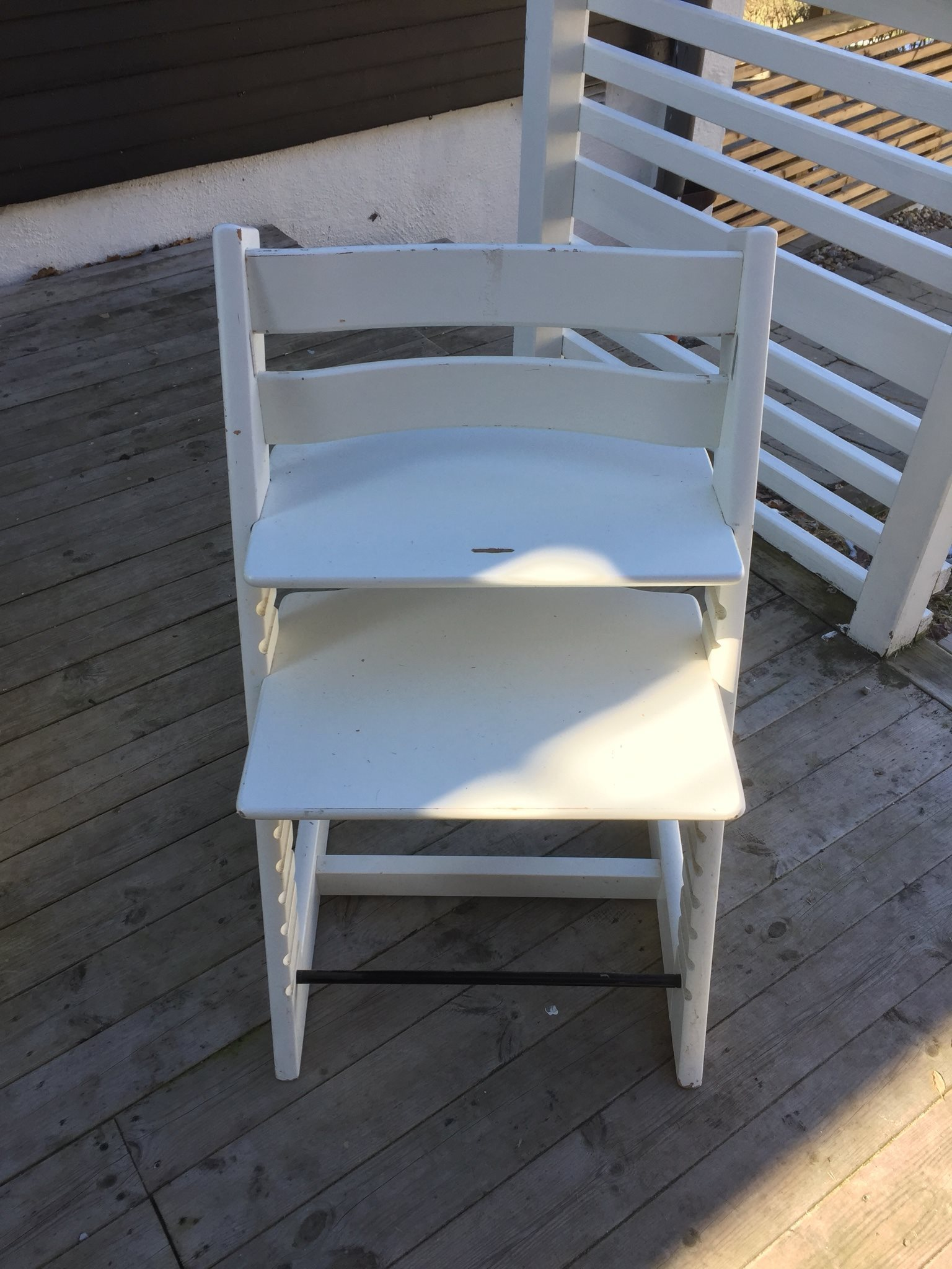 stokke tripp trapp stol inkl babydel på tradera - barnstolar,