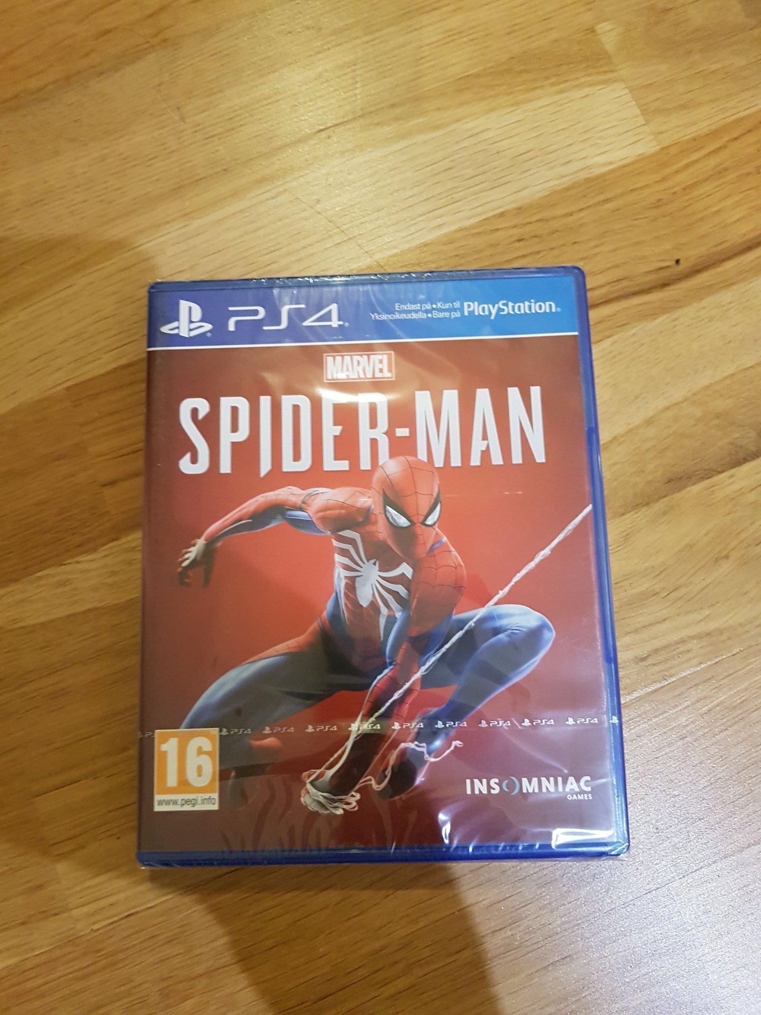 PS4: Spider-Man (Marvel, Spindelmannen). Nytt