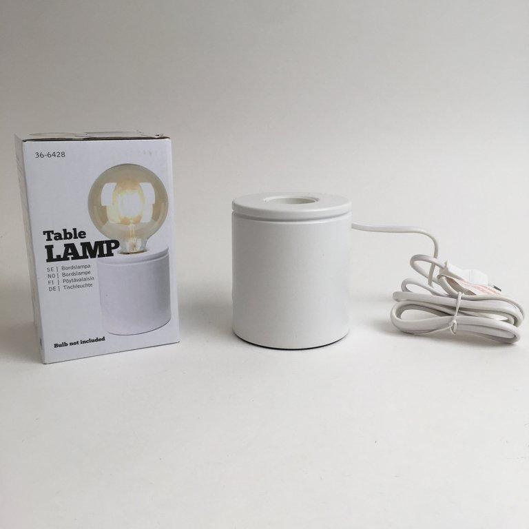 Clas Ohlson, Bordslampa, Tube Table Lamp, Vit