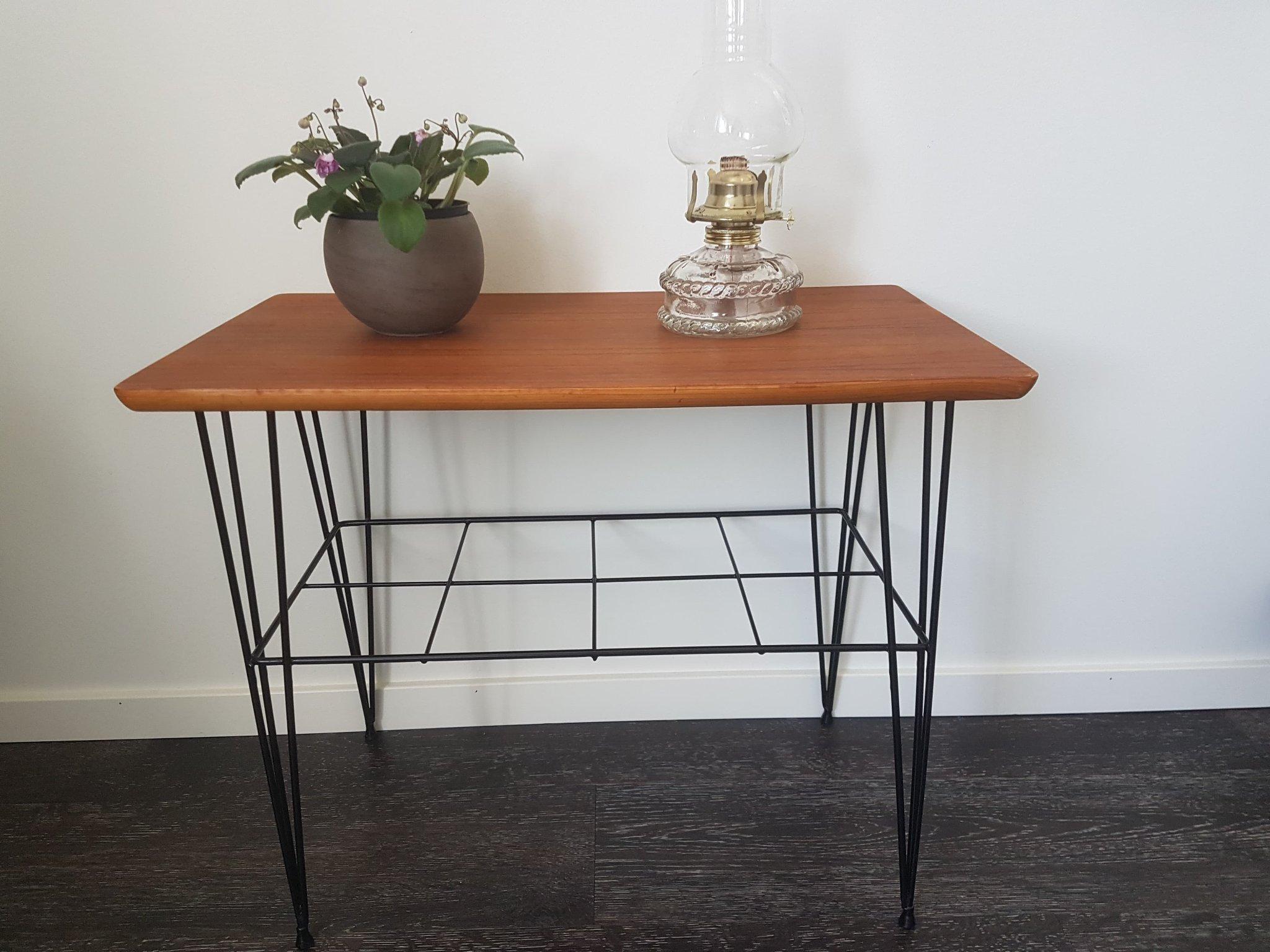 Ubrugte Fint retro bord i teak 50-talet (348829934) ᐈ Köp på Tradera OW-96