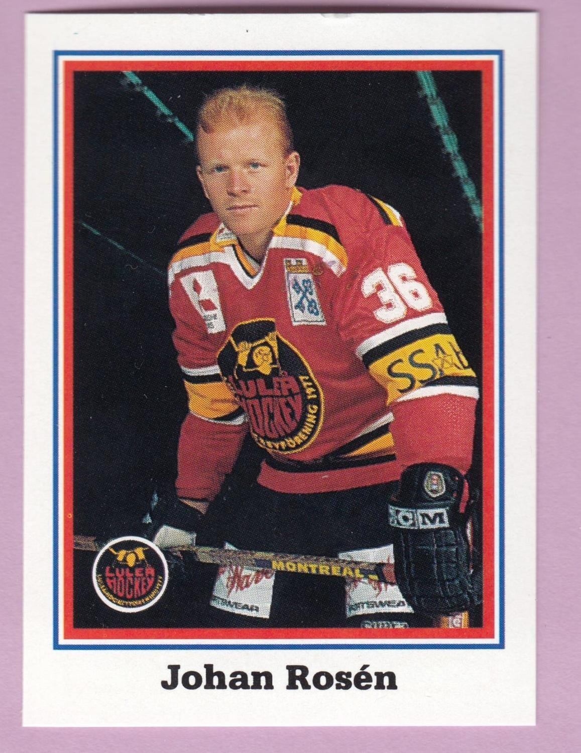1993-94 Semic Elitserien #167 Johan Rosén Luleå Hockey