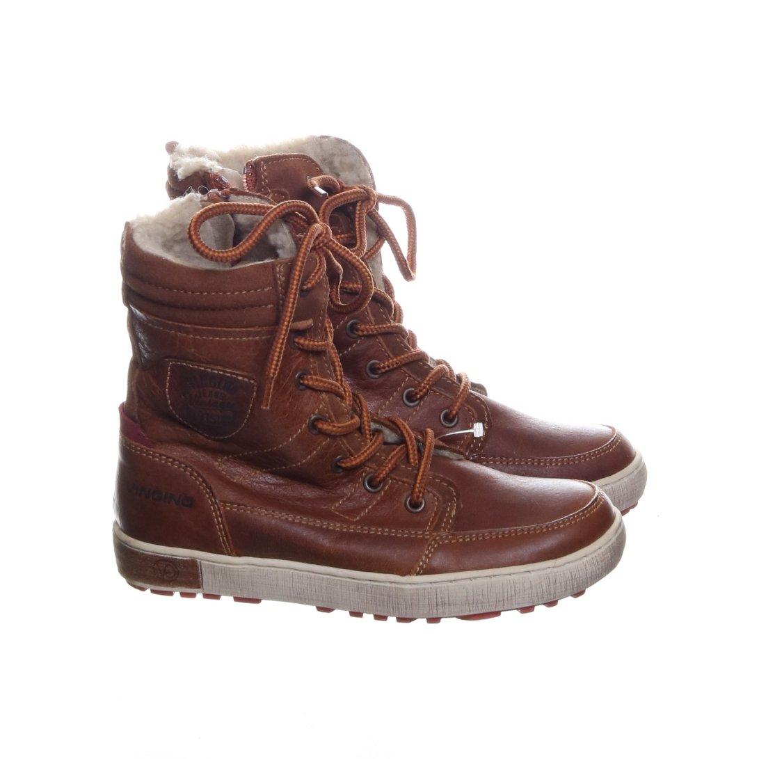 Vingino, Boots, Strl: 33, BrunVitFlerfärgad, Skinn