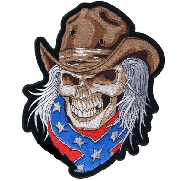 Rebel Cowboy Big Patch Brodyrmärke.