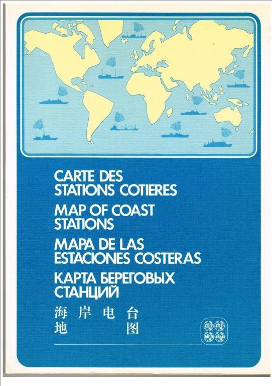 MAP OF COAST STATIONS - 10th edition 1975