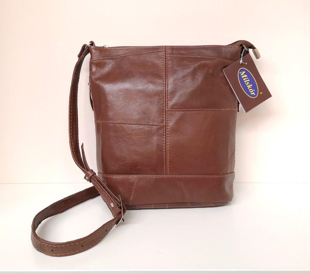 Äkta Läder Väska Mörkbrun mjukt skinn.. (320510679) ᐈ butik hana på ... 3de5cbe649408