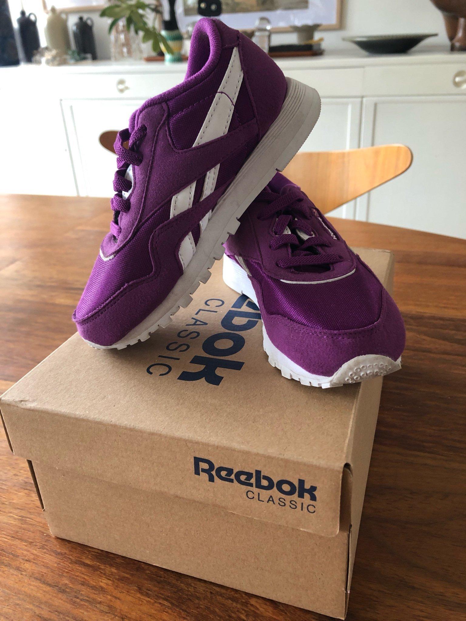 4e79cb243ea Reebok Classics CL NYLON MU STL 26 Lila Sneakers (346832323) ᐈ Köp ...