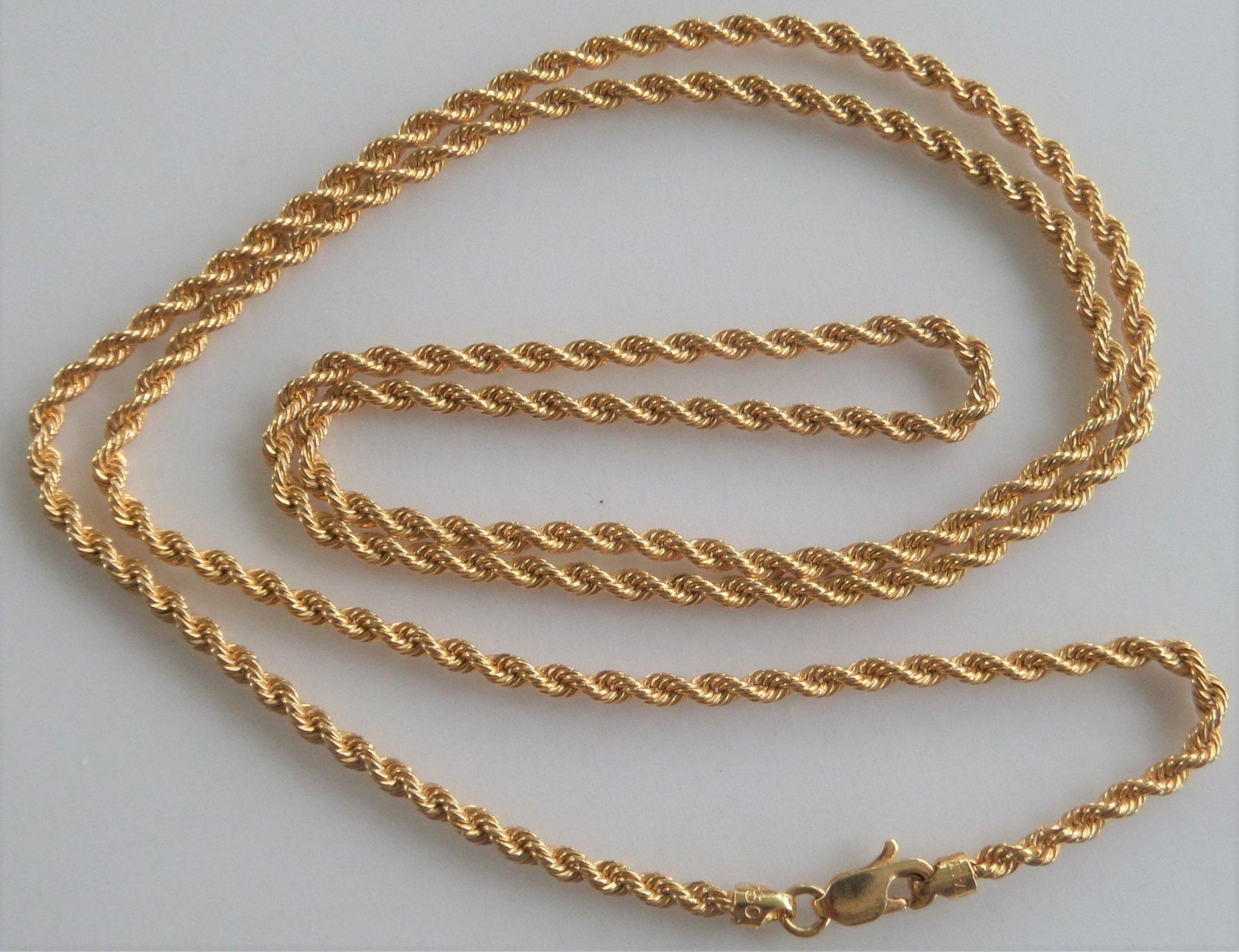 Rask 18 K guld halsband i fin länk stämplad 750 YTALY. (356656843) ᐈ SW-65