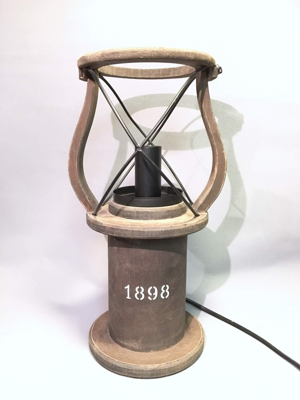 Cottex Sweden lampa lanterna bordslampa lampfot industrilampa navy marin stil