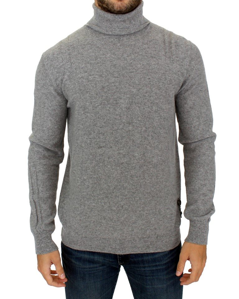 Karl Lagerfeld - Gray wool turtleneck sweater