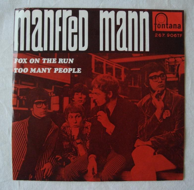 MANFRED MANN - Fox On The Run, Swe-1968 45""