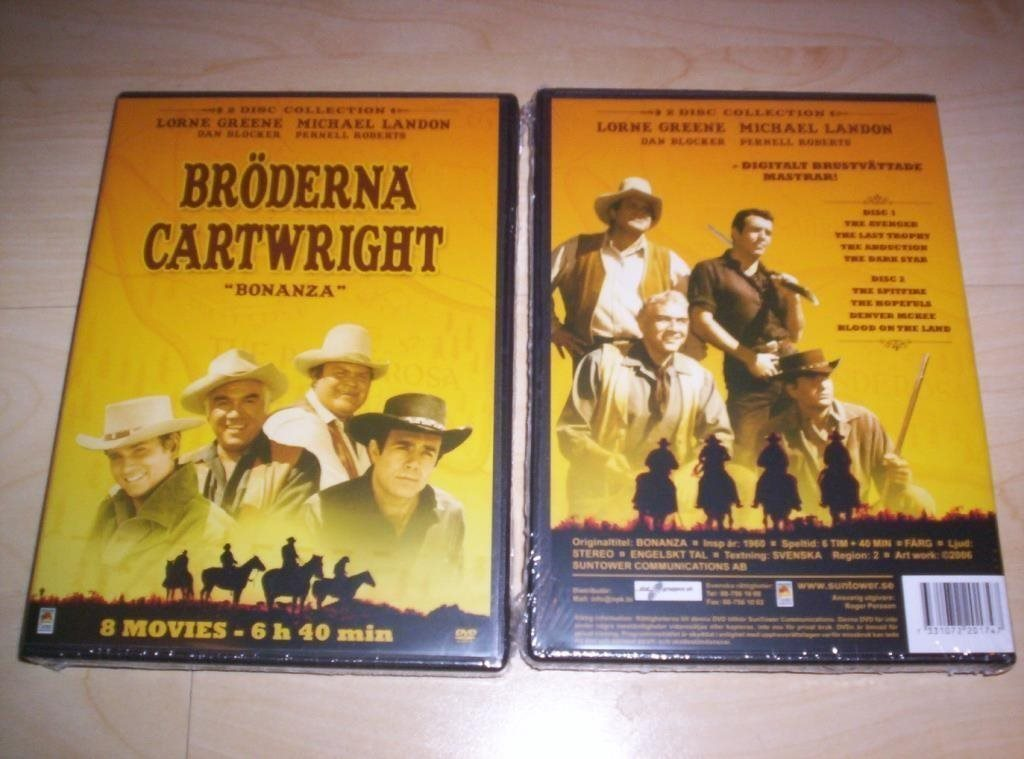 BRÖDERNA CARTWRIGHT (1960) NY inplastad DVD svensk text, BONANZA, Michael Landon