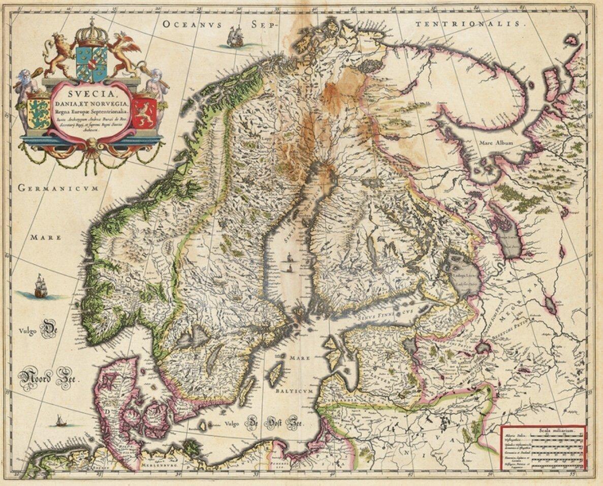 Antik Karta Norge Sverige Finland Baltikum Av A 384525359 ᐈ