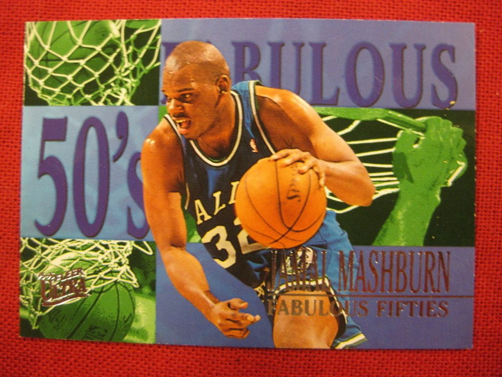 JAMAL MASHBURN - FLEER ULTRA 1995-96 FABULOUS FIFTIES - BASKET