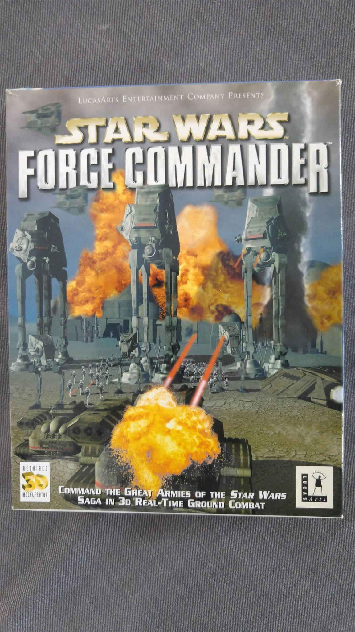 Klassiker! STAR WARS - FORCE COMMANDER PC - Big box - George Lucas - bra skick!
