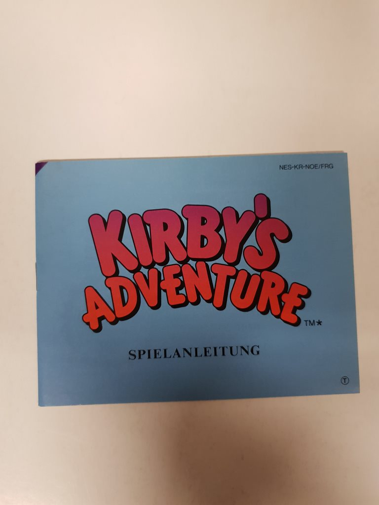 Kirbys Adventure - Manual NES NINTENDO - NOE