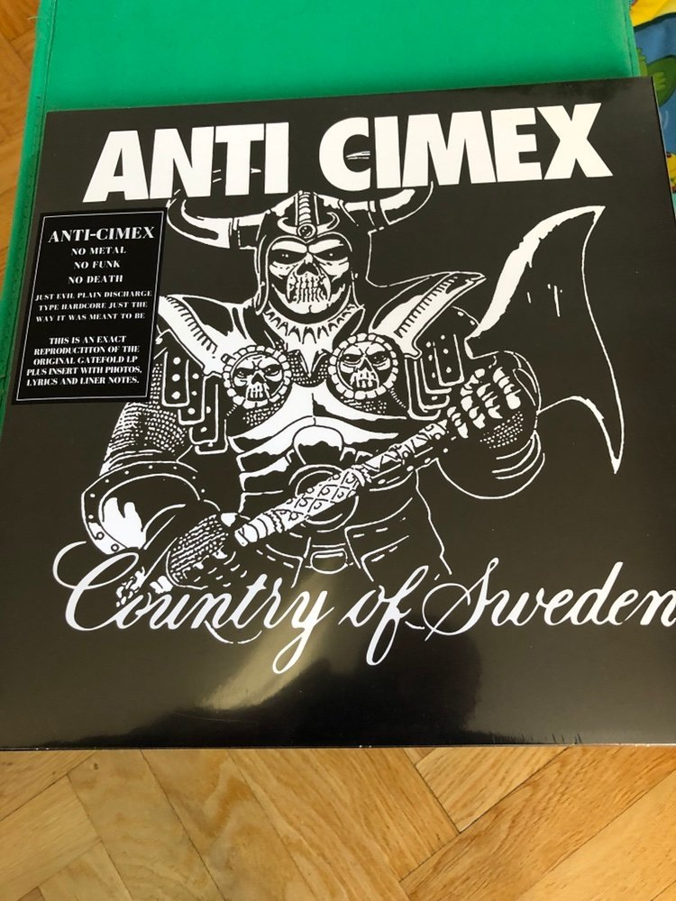 "Anti-Cimex ""country of sweden"" LP - Ny!"