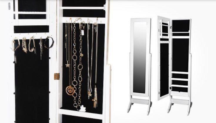 Smyckesskåp Med Spegel På Tradera Com Byråer Och Skåp Förvaring