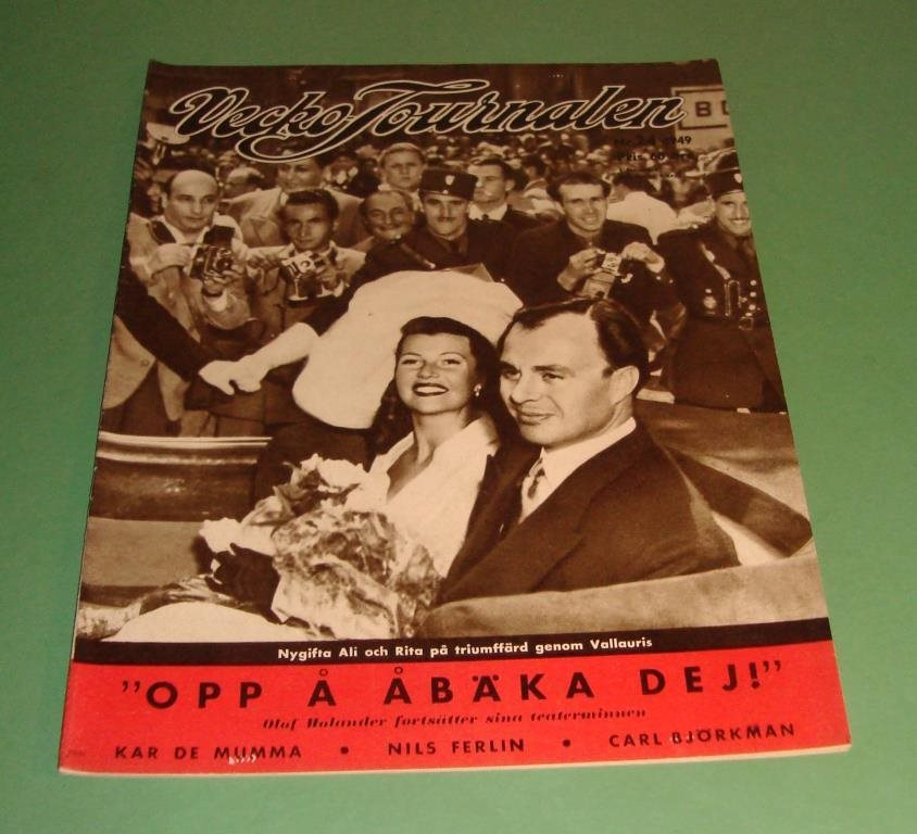Vecko-Journalen 1949-24. Ali Khan/Rita Hayworth på frams.