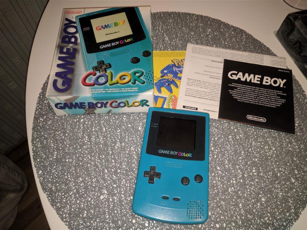 Game boy color kabel - Gameboy Color Med Originalf Rpackning Link Kabel Broschyrer