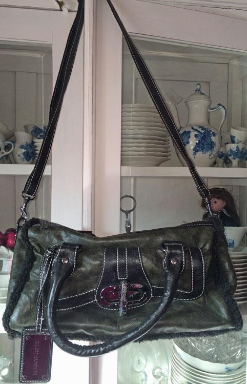 Marco Tozzi fri frakt grön handväska axelremsväska väska