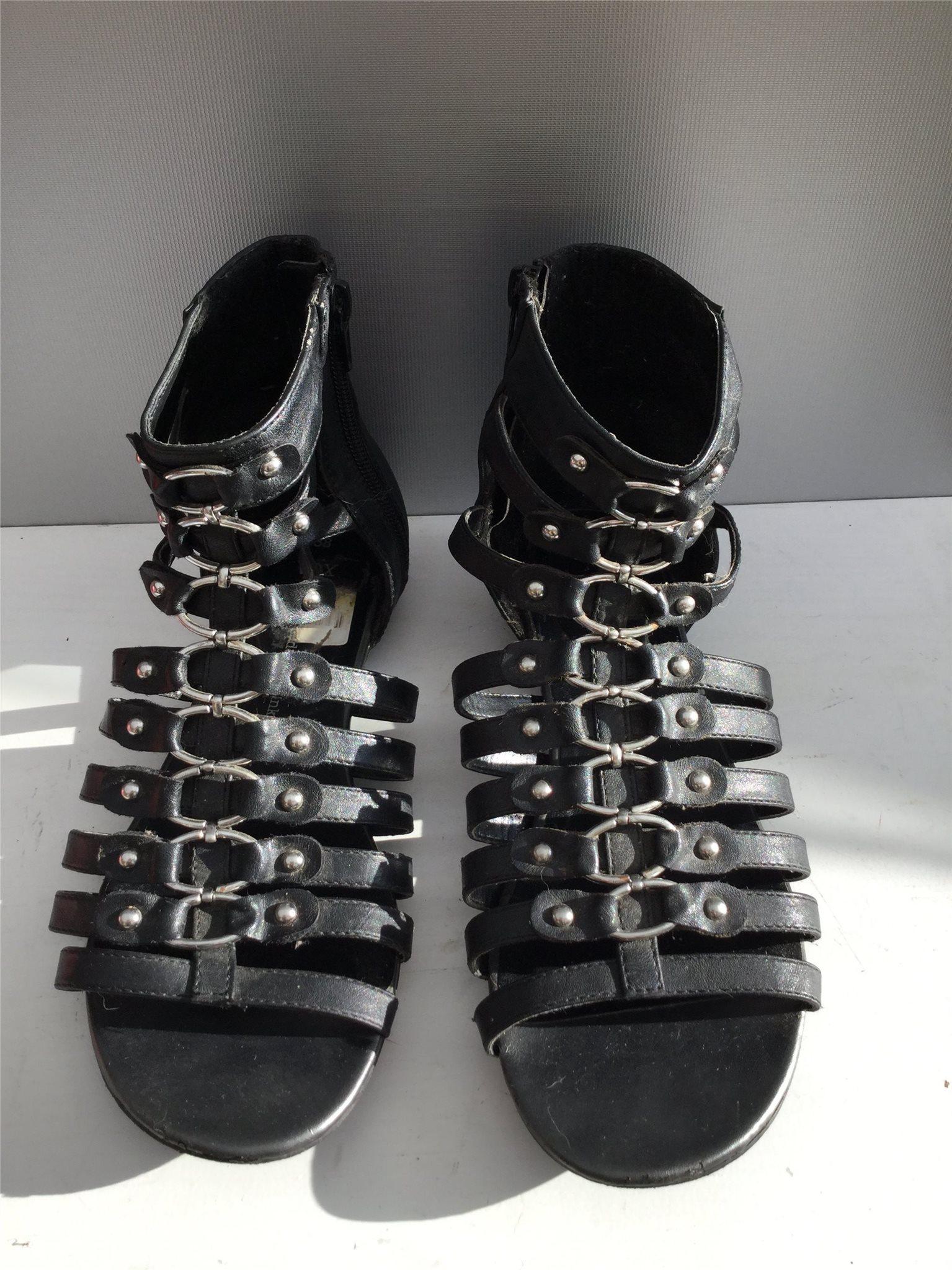 free shipping a28de a9a78 fla¨tad 325947021 Shoes 38 san Svart Skor dam öppen VOX 1n8q7x7YwA