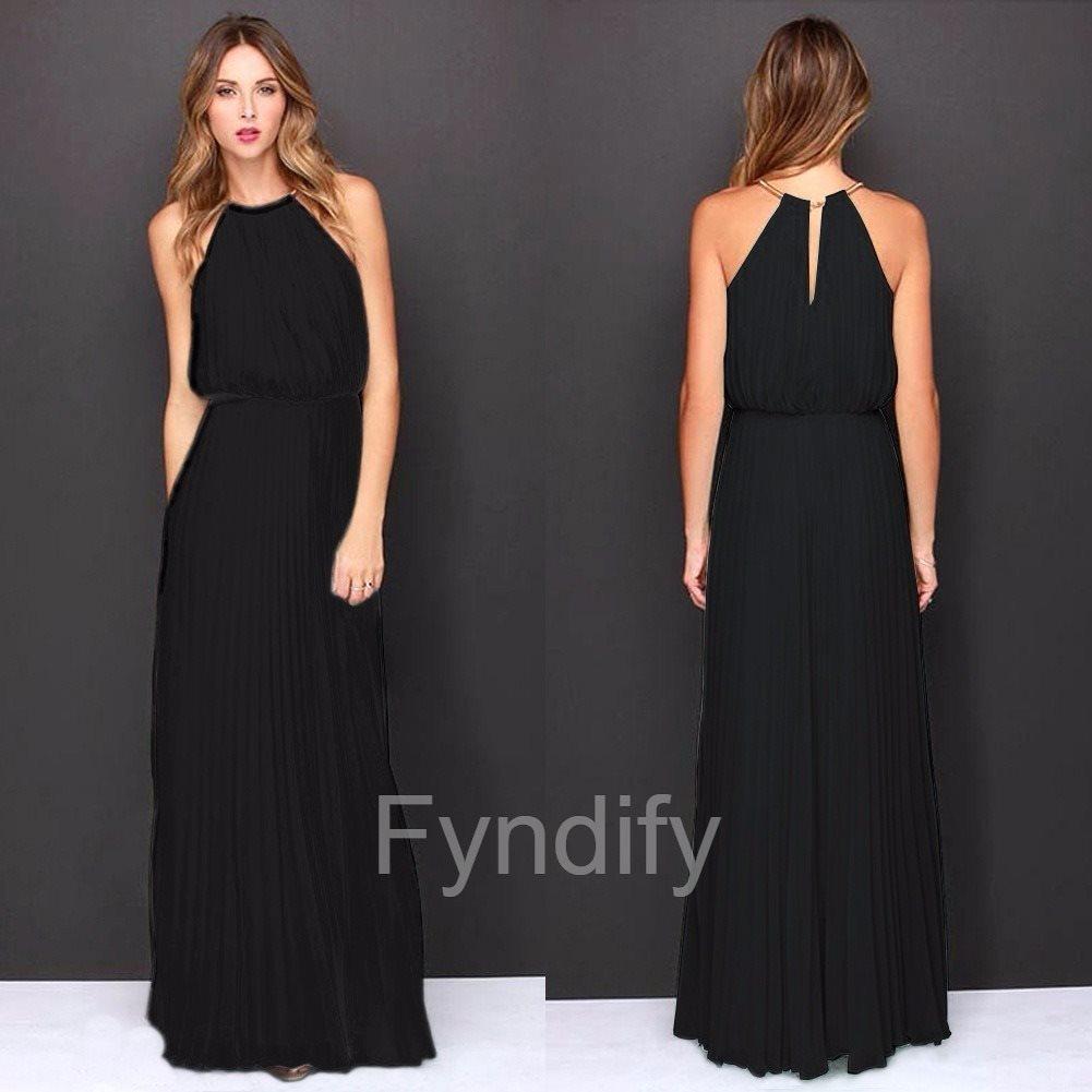 7f5c497578e5 Festklänning Lång Chiffon Svart Strlk S (279754280) ᐈ Fyndify på ...