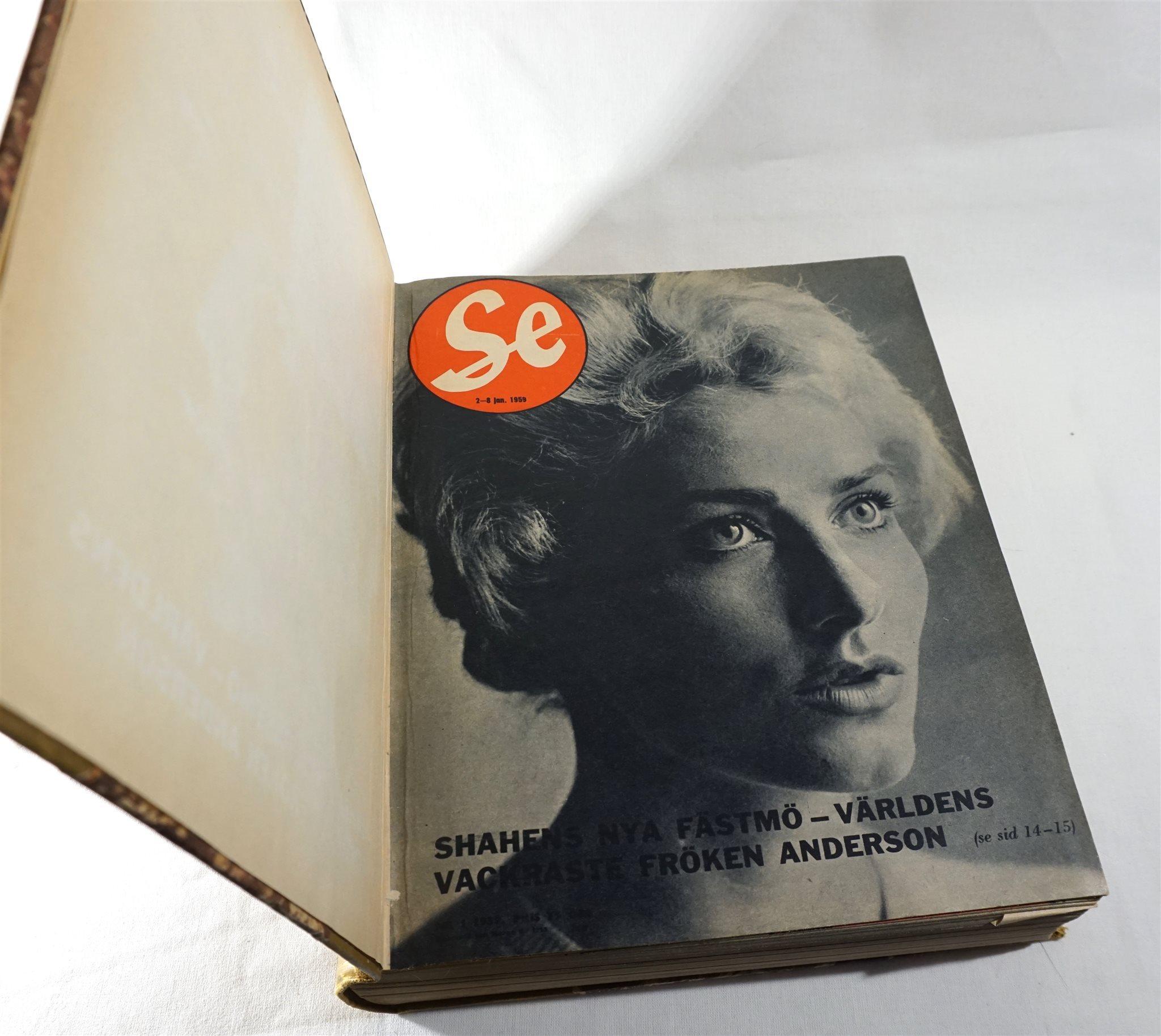 Tidningen SE Inbunden bok bok bok år 1959 1 (av 2) Ingo, Ingrid Bergman osv be7384