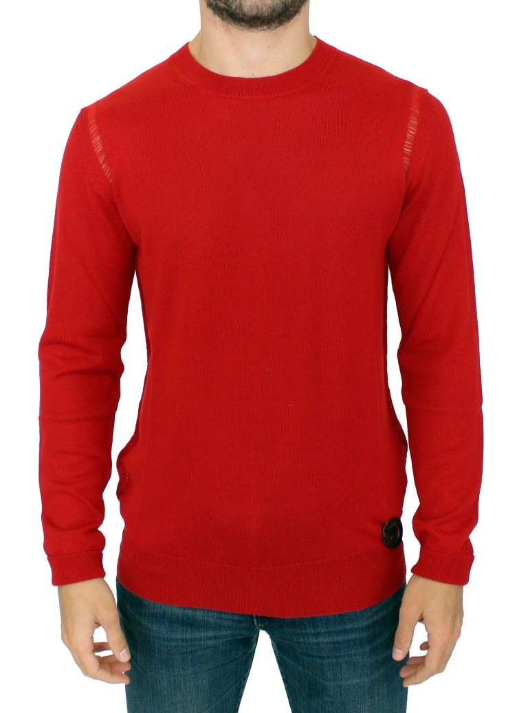 Karl Lagerfeld - Red wool crewneck pullover sweater