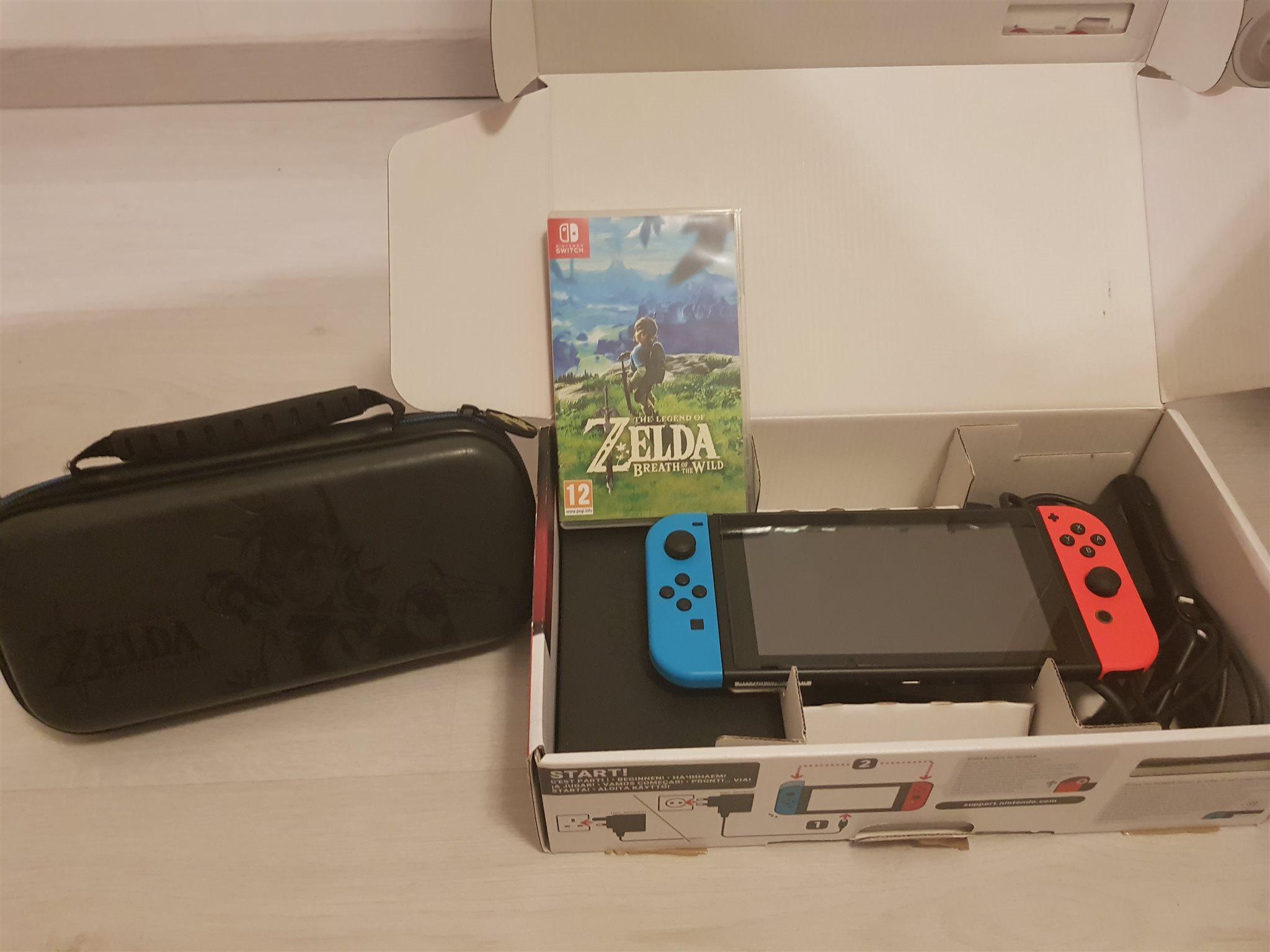 Nintendo Switch med Zelda spelet och väska  fri.. (336309437) ᐈ Köp ... 6782c20b39bb4