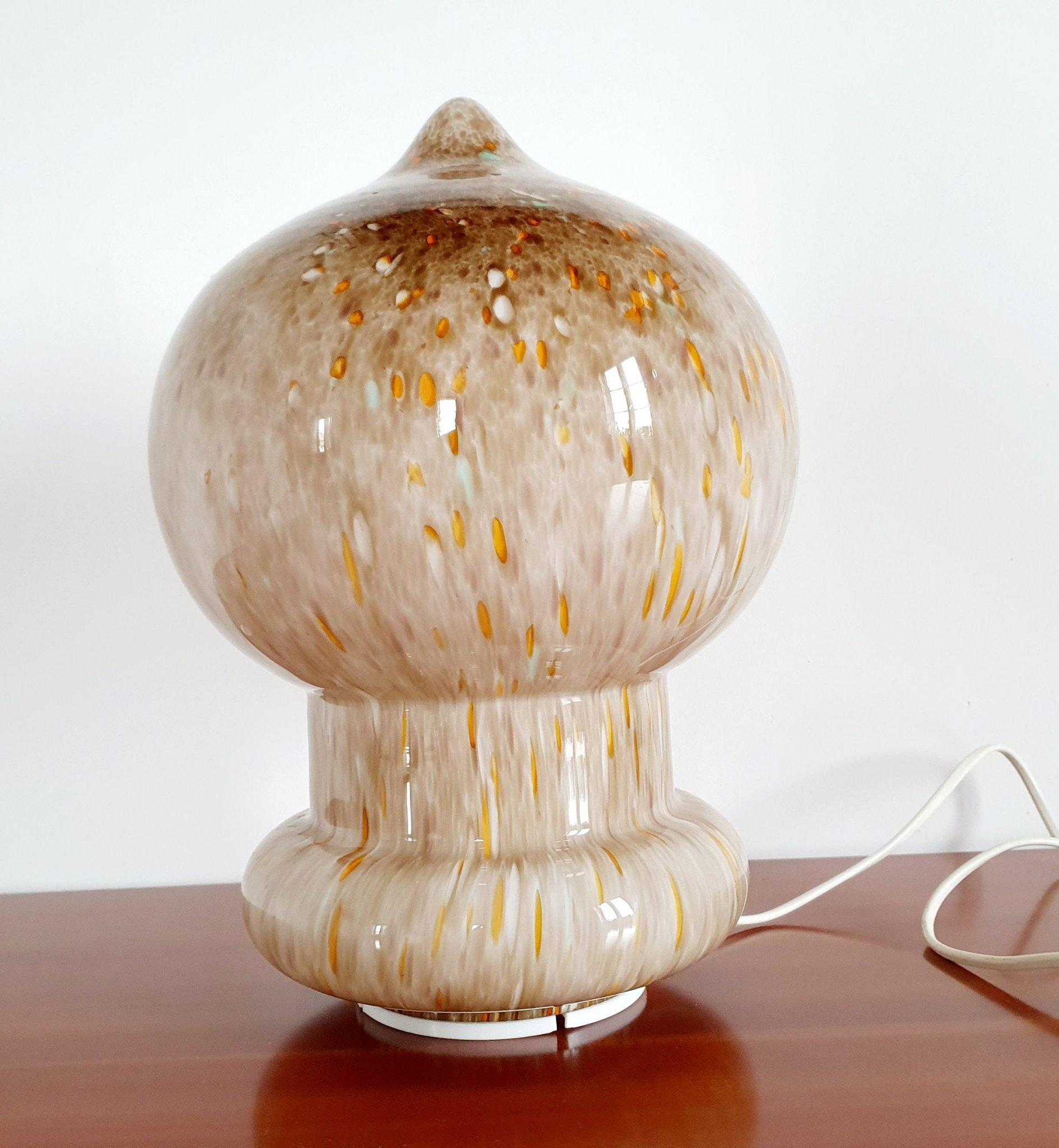 Glas svamplampa bord fönster lampa