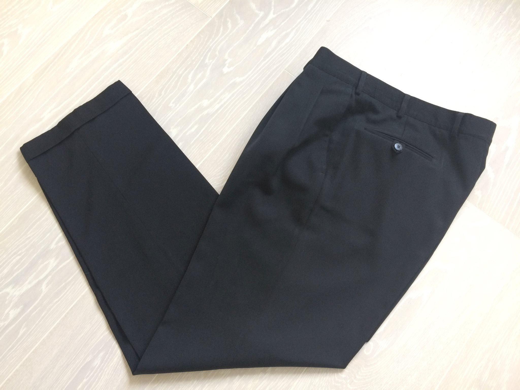 b6c5d69d2b82 Snygga Brason svarta kostymbyxor finbyxor med pressveck herr stl 54 ...
