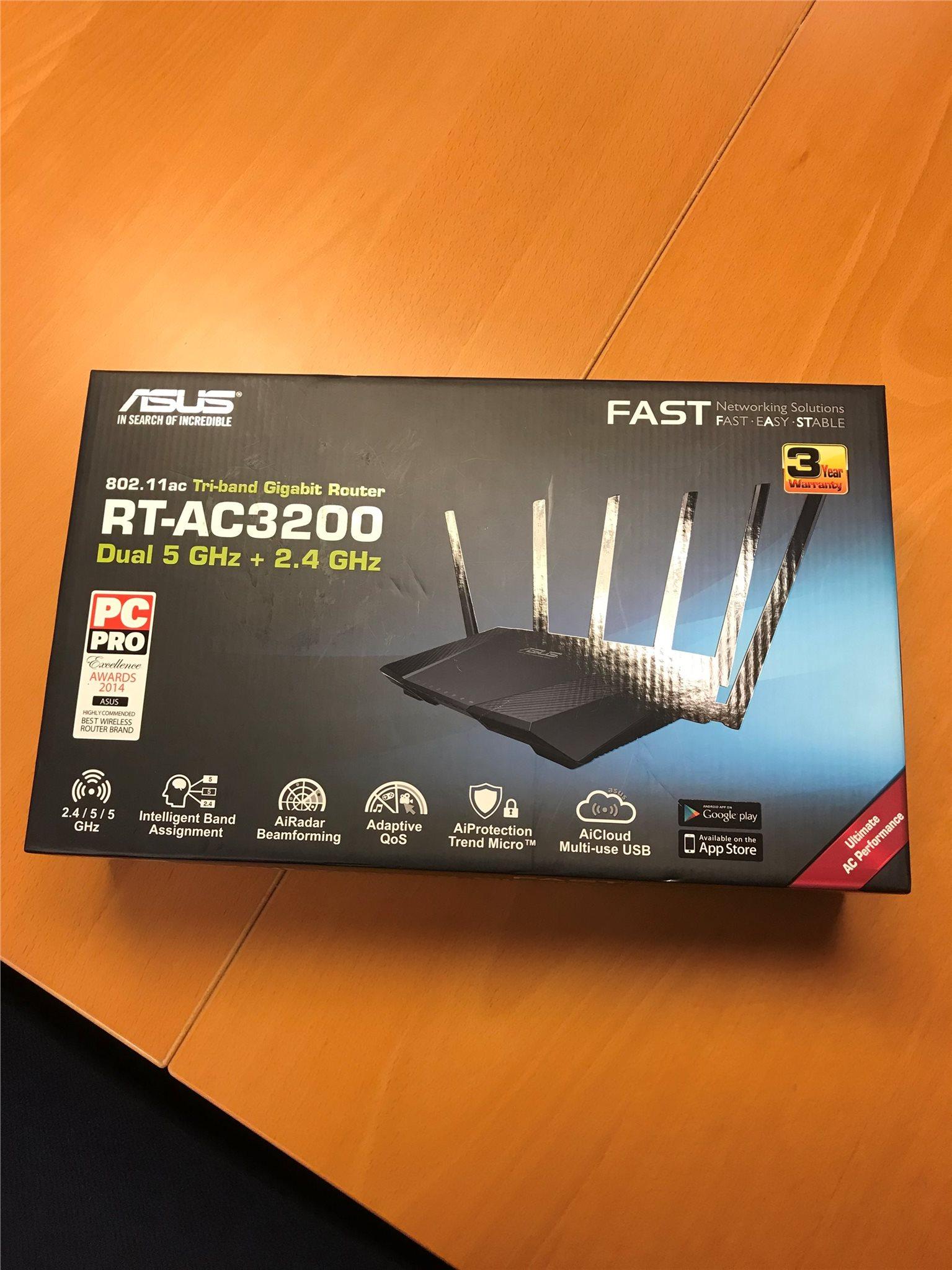 Asus Rt Ac3200 Router 322416614 Kp P Tradera Tri Band Gigabit Wireless Ac 3200 Mbps
